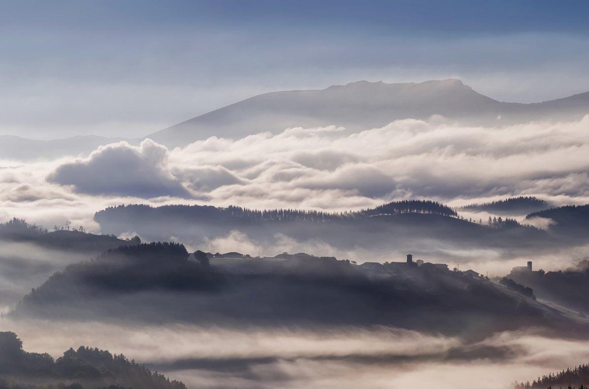 Nieblas en lel Valle de Aramaio