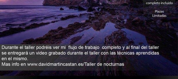 Taller de fotografía nocturna y procesado en Gastelugatxe con David Martín Castan